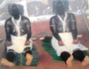 Widows of Balikumbat undergoing the widowhood rite